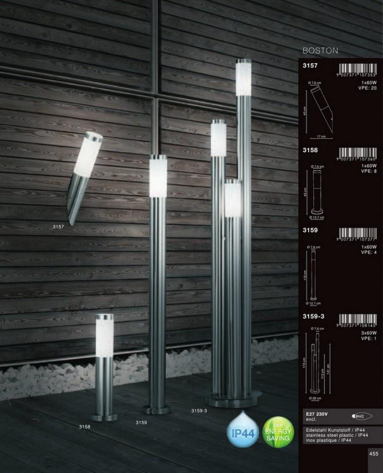 stalp exterior ip44 boston 3159 globo lighting globo lighting corpuri de iluminat globo. Black Bedroom Furniture Sets. Home Design Ideas