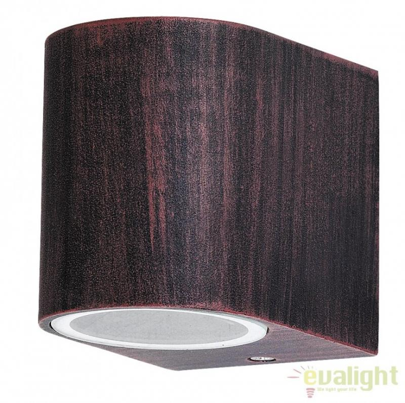 Aplica de perete exterior finisaj antique brown, IP44 Chile 8018 RX, corpuri de iluminat, lustre